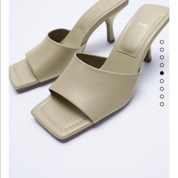 Zara sheep leather sandals bloggers fav